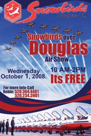 Douglas Air Show Poster featuring the Canadian Snowbirds