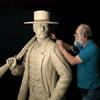 Tim Trask sculpts Wyatt Earp's likeness