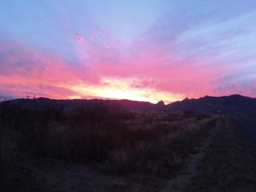 Cochise Stronghold sunset