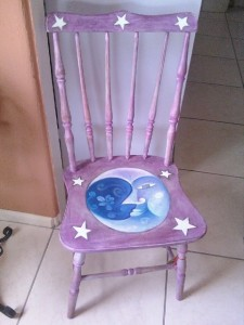 Chair painted by Bisbee artist Rose Johnson