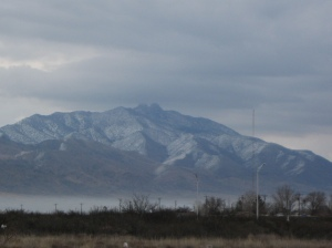 Snow covered mountains in Cochise County