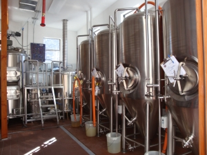 The brewing room at Old Bisbee Brewing Company. Photo (c) Victor Winquist